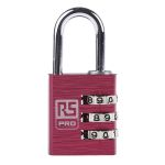 Product image for Red Combination Safety Padlock 30 mm