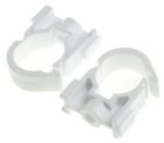 Product image for Polypropylene single lock pipe clip,22mm