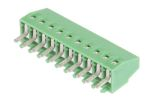 Product image for 10 way PCB terminal block 2.54mm