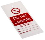 """Product image for Lockout Tag """"Do not operate"""""""