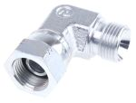 Product image for 3/8in BSPP M-F swivel nut elbow adaptor