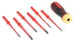 Product image for Ratchet ScrewDriver Set 6pc 1000V PZ/SL