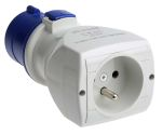 Product image for Adaptor 1 Way IEC309 plug to French Skt