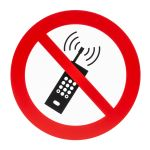 Product image for 200mm PP No Activated Mobile Phone Sign
