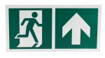 Product image for 150x300mm PP Emergency Exit Up Sign