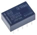 Product image for Relay,DPDT-NO/NC,Ctrl-V 5DC,TQ Series
