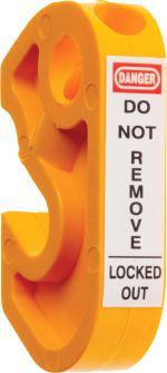 Product image for Yellow Miniature Circuit Breaker Lockout
