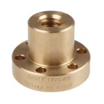 Product image for Flanged Bronze Nut for 14 X 3 Lead Screw