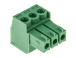 Product image for 3.5mm PCB terminal block, R/A plug, 3P
