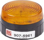 Product image for LED Beacon, Amber, Low Prof, 10-100Vdc