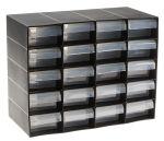 Product image for 20 DRAWER PLASTIC UNIT-BLACK