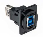 Product image for FT BLK METAL USB 3.0 B-A CSK XLR