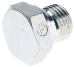 Product image for 1/4in BSPP hexagon head plug adaptor