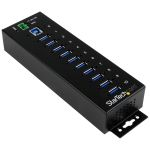 Product image for Startech 10-Port Industrial USB 3 Hub