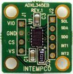 Product image for ADXL355 MEMs Accelerometer Dev Board