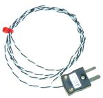 Product image for Type J Exp. Junction Thermocouple PFA 1m