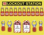 Product image for 10 Padlock Lockout Station
