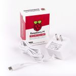 Product image for Raspberry Pi, 15.3W AC DC Adapter 5.1V dc, 3A, 1 Output Power Supply, Type A