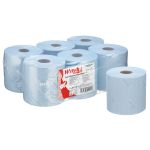 Product image for Kimberly Clark Centrefeed of 4800 Blue WypAll® L10 Food & Hygiene Wiping Paper Paper Wipes for Food Industry, General