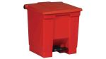 Product image for Rubbermaid Commercial Products Legacy Step-On Containers 30L Red Pedal Plastic Waste Bin