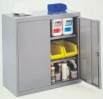 Product image for Grey 2 door tool locker with 2 adj shelf