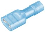 Product image for RS PRO Blue Insulated Spade Connector, 6.35 x 0.8mm Tab Size, 1.5mm² to 2.5mm²