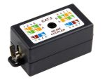 Product image for Black Cat5 in-line wiring STP box