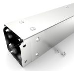 Product image for Stainless steel trunking, 75x75mm x 3m
