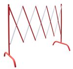 Product image for Extendable barrier 2.3 m - red/white