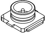 Product image for Micro Coaxial Receptacle,Vertical