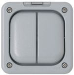 Product image for 13A SWITCH 2 GANG GREY MASTERSEAL+