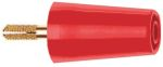 Product image for 4mm screw adapter socket red