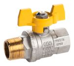 Product image for Gas T handle gas valve 1/2in M-F