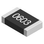 Product image for SMD 0603 thick film resistor 100K 1%