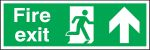 Product image for PP sign 'Fire exit' man up 150x450mm