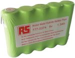 Product image for RS PRO 6V NiMH Rechargeable Battery Pack, 1.3Ah