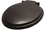 Product image for Black thermoplastic toilet seat