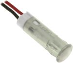 Product image for 6mm snap-in panel LED wires, white 12Vdc