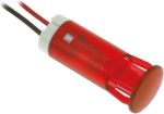 Product image for 10mm snap-in panel LED wires, red 24Vdc
