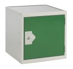 Product image for Cube locker grey carcass green doors