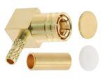 Product image for 75 Ohm R/A PCB RF coaxial SMB mini plug
