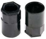 Product image for Blk PVC female adaptor, 25mm dia