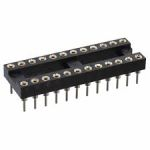 Product image for RS PRO 2.54mm Pitch Vertical 22 Way, Through Hole Turned Pin IC Dip Socket, 3A