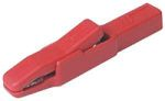 Product image for Crocodile clip 4mm, AK 2 B, red