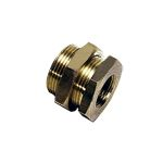 """Product image for Female Bulkhead Fitting 3/8"""" BSPP"""