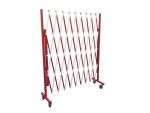Product image for Wheeled white/red steel barrier