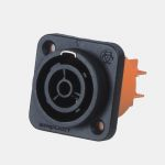 Product image for FEMALE PANEL MOUNT POWER CONNECTOR