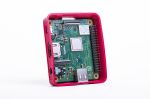 Product image for Official Series For Use With Raspberry Pi 3A+, Red, White Raspberry Pi Case