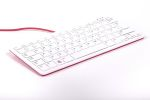 Product image for Raspberry Pi Keyboard, QWERTY (US) Red, White
