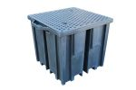 Product image for 4 Way Entry Single IBC Spill Pallet Blac